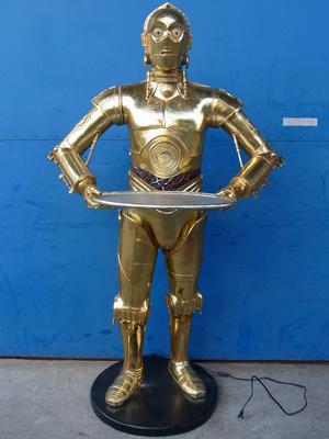 レジン製大型ロボットオブジェ【ANDROID BUTLER】セールスプロモーションドール