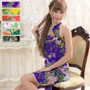 1007フラワーパワーネットミニチャイナドレス 衣装 コスプレ キャバドレス ハロウィン