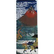 福まねき猫_赤富士 日本手ぬぐい