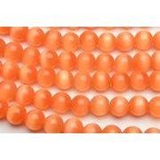 【キャッツアイ (オレンジ)】10mm 1連(約35cm)[R1674-10]