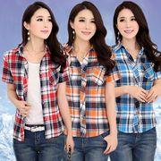 チェック柄 ギンガムチェック柄のシャツ(半袖と長袖あり)