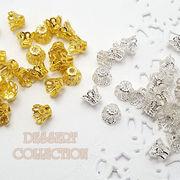 【ハンドメイド材料】フラワーキャップ・ビーズキャップ・座金 6mm