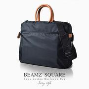 BEAMZ'SQUARE 牛革付属3way仕様ブリーフケース BZSQ-735 ブラック