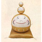 【ご紹介します!安心の日本製!人気の縁起物&和雑貨!ほっこりかわいい!金の大福 三福だるま】