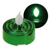 YuRa LEDティーライト キャンドル グリーン(発光色:緑)(ディスプレイBOX付)