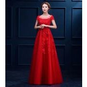 RED大きいサイズ ウエディングドレス☆二次会/花嫁/プリンセス/パーティー★編み上げ/ロング丈/宴会