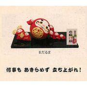 【ご紹介します!ほっこりかわいい! 素焼陶製の縁起物和雑貨!福々 七転び八起き(4種)】b.だるま