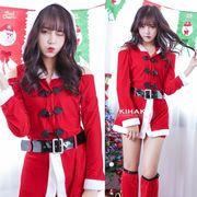 【即日出荷】ホットパンツ 赤 サンタコスチューム クリスマス コスプレ衣装【9237】