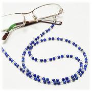 ラピスラズリ×水晶 メガネチェーン 眼鏡チェーン グラスコード