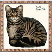 【アメリカ製】猫のドアストッパー(Brown Tabby Cat)