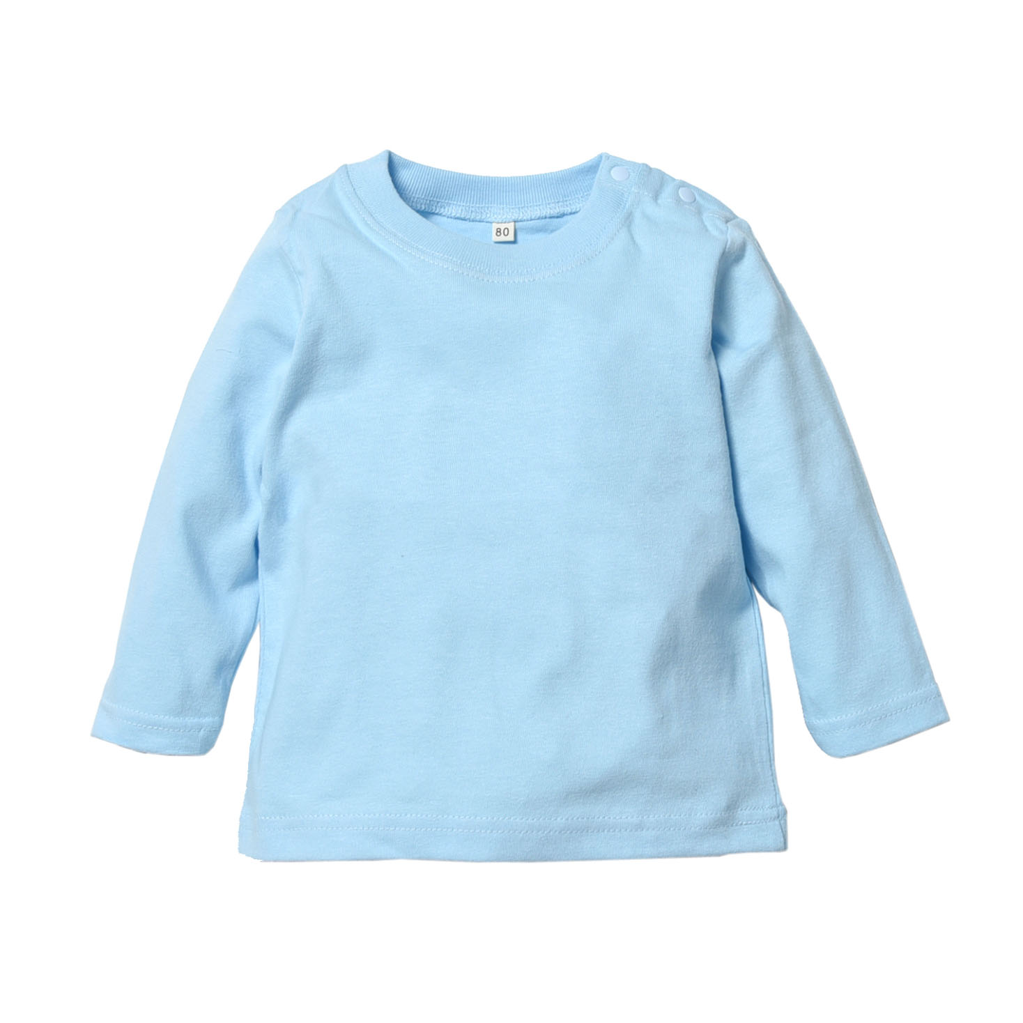 【8色展開】無地長袖ベビーTシャツ(80サイズ~100サイズ)【トムス製】ロンT、キッズ、ベビー