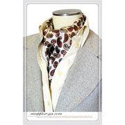 エレガント袋縫いペーズリー柄メンズ用100%シルクスカーフ 10125