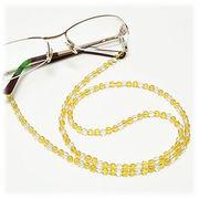 シトリン×水晶 メガネチェーン 眼鏡チェーン グラスコード