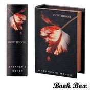 Book Box マグネット開閉式 ブック型ボックス ニュームーン (ブックボックス)