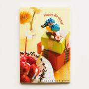 【即納】世界最小級のサプライズ☆nanoblockポストカード 【カワセミ】バースデー