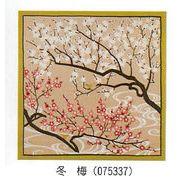 【ご紹介します!安心の日本製!飾っても使っても四季折々の花が美しい!花景色小風呂敷】冬 梅