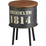 アビテ テーブル ブルックリン・ストレージサイドテーブル L ブラック