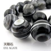 天眼石(しまメノウ)【丸玉】14~14.5mm【天然石ビーズ・パワーストーン・1連販売・ネコポス配送可】