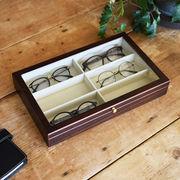 【Wooden Case】 木製メガネケース 6本用