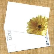 花のポストカード ガーベラ(黄色、インクジェット紙)