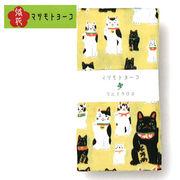 マツモトヨーコ マルチクロス (まねき猫/17-10-4625) ガーゼ 風呂敷  レトロ モダン 雑貨