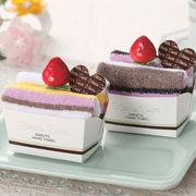"""★母の日★お菓子みたいなかわいい""""ショートケーキケーキタオル"""""""
