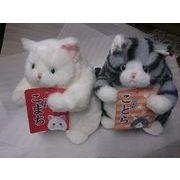 デブ猫ヌイグルミ 白猫の「こまち」 灰しま「ことら」 ヒマラヤン追加