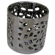 マルエス 陶器製 燭台 月輪 シルバー