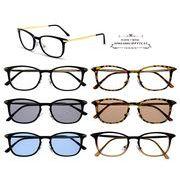 ★sunglasses&optical★  スクエア型  ライトレンズ  サングラス【全6色】