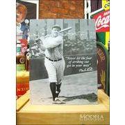 アメリカンブリキ看板 ベーブ・ルース/Babe Ruth 語録