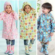 女の子 男の子 レインウェア  レインコート レインポンチョ 軽量 防水 ナイロン 収納袋付 子供服 全3色