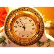 【値下げ】【訳あり処分】【SALE】陶器製ぶどう柄置時計