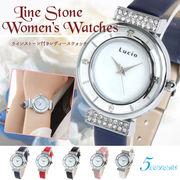 腕時計  Lucio ルチオ LG10 ラインストーン付きレディースウォッチ