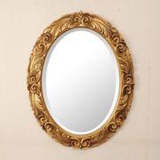 【イタリア製】 デコラティブウォールミラー 壁掛け鏡 オーバル型(直送可能)