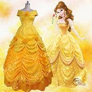 美女と野獣 ドレス ハロウィン 仮装 コスプレ衣装 プリンセス Disney princess パニエ付き