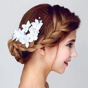 3b5aa4d41821e おしゃれ 白木蓮 真珠髪留め 花嫁 結婚式 - ヘアピン ヘアピン ヘアアクセサリー ピン留め
