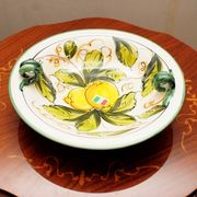 【イタリア製】 陶器 絵皿 ハンドペイント レモン柄(直送可能)
