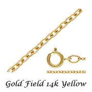 ゴールドフィルド イエロー あずきチェーン/アンカーチェーン ネックレス 幅1.1mm