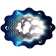 マジカルスピナー 『ドルフィン イルカ 9インチ 青銀』 ハワイアン 雑貨【夏にオススメ! 即納】