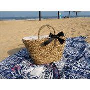 夏らしいデザイン 上品  夏VIVI バッジ  かごバッグ バッグ カゴバッグ