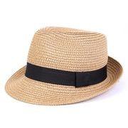 同梱でお買得★春夏★ビーチ用帽子★格好いい麦わら帽子★男女通用★親子帽子★★かっこいい4色