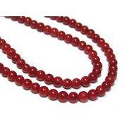 珊瑚(染色) 真紅ラウンド 約3mm 連販売 約粒120個