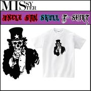 【受注生産】【MISSY MISTER】 アンクル・サム スカルプリントTシャツ 5枚売り