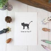 ポストカード ねこ「 I'm a cat」