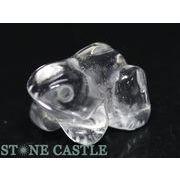 【彫刻置物】カエル約20mm 水晶
