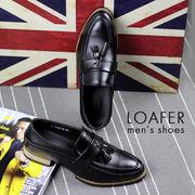 ローファー メンズシューズ 革靴 紳士用 男性用 タッセル レザー 皮 革 装飾