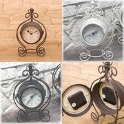 【上代変更/値下げ】ノーブルアイアンクロック★ボースサイドクラウン S【置時計/両面時計】