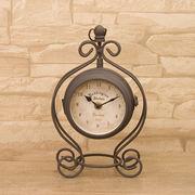 【SALE/値下げ】ノーブルアイアンクロック★ボースサイドクラウン S【置時計/両面時計】