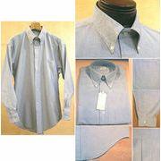 上質コットン100% オックスフォード生地 メンズ ボタンダウンシャツ ライトブルー