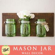 壁掛け メイソンジャー 3連 Ball Mason jar グリーン